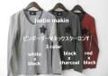 【プレミアムタイムセール!】 jastin makin(ジャスティンメイキン) by d-fy(ディーエフワイ) ピンボーダーVネック長袖Tシャツ/ロンT 3 colar  (ホワイト/ブラック/レッド) M/L