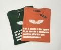 【最終値下げ!大処分価格!】【プレミアムサマーセール!】 d-fy(ディーエフワイ) スカルxロゴプリントデザイン半袖ラグランTシャツ 2 colar(トップオレンジ/ダークグリーン) M/L