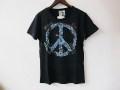 『特別価格』 SWEET YEARS(スウィートイヤーズ) ピースマークxフラワー スラブ半袖Tシャツ(ネイビー) S/M