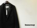 beaucoup(ボクゥ) メランジウール2Bテーラードジャケット/ライトアウター(ブラック) 44/46/48