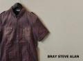 BRAY STEVE ALAN(ブレイ スティーブ アラン) ヴィンテージチェック半袖シャツ (レッド) XS/S