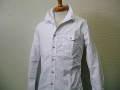 『送料無料』『特別価格』 d-fy jastin makin (ジャスティンメイキン) ワイヤー入りスタンド長袖シャツ(ホワイト)S/M/L