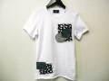 『特別価格』 jastin makin (ジャスティンメイキン) デニムパッチ半袖Tシャツ(ホワイト)S/M/L 限定モデル