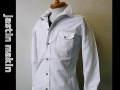 『送料無料』『特別価格』 d-fy jastin makin (ジャスティンメイキン) ワイヤー入りスタンド長袖シャツ(ホワイト) S/M/L