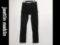 『プレミアムゲリラセール!』  jastin makin(ジャスティンメイキン) スリムシューカットカーゴパンツ(ブラック) S/M/L/XL