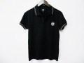 『特別価格』 jastin makin x RLISP (ジャスティンメイキン) ターゲットマークデザイン半袖ポロシャツ(ブラック)M/L