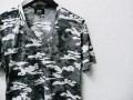 jastin makin x RLISP (ジャスティンメイキン) カモフラ柄Vネック半袖Tシャツ(グレー) S/M/L