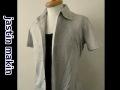 jastin makin(ジャスティンメイキン) x RLISP  ピンストライプ半袖カットシャツ(ライトグリーン) M/L