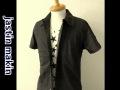 『ラストクリアランス!大処分価格!』 jastin makin(ジャスティンメイキン) x RLISP  ピンストライプ半袖カットシャツ(ダークワイン) M/L