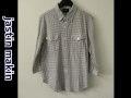 『特別価格』 jastin makin (ジャスティンメイキン) x RLISP 7分袖チェックボタンダウンシャツ(パープルxホワイト)  M/L