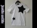 jastin makin (ジャスティンメイキン) x RLISP BIGスターカットオフデザインクルーネック半袖Tシャツ(ホワイト)  M/L 限定品