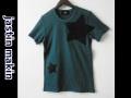 jastin makin (ジャスティンメイキン) x RLISP BIGスターカットオフデザインクルーネック半袖Tシャツ(グリーン)  M/L 限定品