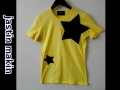 jastin makin (ジャスティンメイキン) x RLISP BIGスターカットオフデザインクルーネック半袖Tシャツ(イエロー)  M/L 限定品