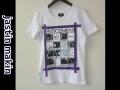 jastin makin x RLISP (ジャスティンメイキン) レイヤードカットオフリメイクデザイン半袖Tシャツ (ホワイト) M/L 限定品