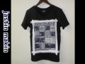 『特別価格』 jastin makin x RLISP (ジャスティンメイキン) レイヤードカットオフリメイクデザイン半袖Tシャツ (ブラック) M/L 限定品
