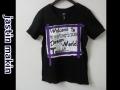 『特別価格』 jastin makin x RLISP (ジャスティンメイキン) レイヤードカットオフリメイクデザインロゴ半袖Tシャツ (ブラック) M/L 限定品