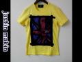 jastin makin x RLISP (ジャスティンメイキン) レイヤードカットオフユニオンジャック半袖Tシャツ (イエロー) M/L 限定品