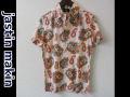 jastin makin(ジャスティンメイキン) x RLISP ボタニカル/ウクレレ アロハ半袖カットシャツ(ピンク) M/L
