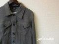 『クリアランスファイナルセール』  jastin makin (ジャスティンメイキン) x RLISP スウェットGジャンジャケット (グレー) M/L/XL