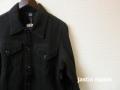 『クリアランスファイナルセール』  jastin makin (ジャスティンメイキン) x RLISP スウェットGジャンジャケット (ブラック) M/L/XL