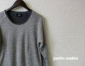 『特別価格』 jastinmakin x RLISP (ジャスティンメイキン) レイヤードデザインニット/セーター (グレーxチャコール) M/L