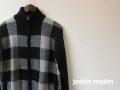 jastin makin x RLISP(ジャスティンメイキン)  チェックジャガードニットトラックジャケット/ダブルジップジャケット (ブラック) M/L