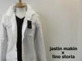jastin makin x lino storia ワイヤー入りスタンド長袖シャツ(ホワイト) S/M/L