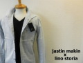 『プレミアムタイムセール!』 jastin makin x lino storia ワイヤー入りスタンド長袖シャツ(ライトブルー) S/M/L