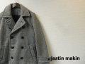 jastin makin(ジャスティンメイキン) ツイードPコート(グレー) S/M