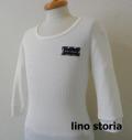 ino storia(リノ ストーリア) サーマルUネック7分袖Tシャツ 2type  (ホワイト) M/L