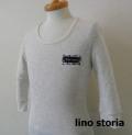 『ラストクリアランス!大処分価格!』 lino storia(リノ ストーリア) サーマルUネック7分袖Tシャツ  2type (オートミール) M/L
