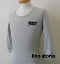 『ラストクリアランス!大処分価格!』 lino storia(リノ ストーリア) サーマルUネック7分袖Tシャツ  2type (グレー) M/L