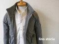 『特別価格』 lino storia(リノストーリア) ジップアップスタンドジャケット/ブルゾン (グレー) M/L