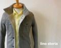 『特別価格』 lino storia (リノストーリア) 千鳥格子M65デザインジャケット(グレー)  M/L