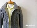 lino storia (リノストーリア) グレンチェックM65デザインジャケット(グレー)  M/L