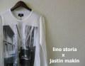 lino storia x jastin makin ビートルフォト長袖Tシャツ/プリントロンT (ホワイト) S/M/L/XL  『Wネーム限定品』