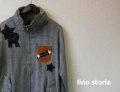『特別価格』  lino storia(リノストーリア) レザー使いボリュームネックジャケット/アウター M/L 限定品
