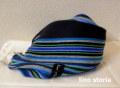 『WINTER CLEARANCE SALE!』 lino storia(リノストーリア) ストライプデザインマフラー(ブルー) ユニセックス/イタリア製