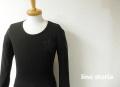『特別価格』  lino storia(リノ ストーリア) ネイビーカモフラスター サーマルUネック長袖Tシャツ (ブラック) M/L/XL 『限定品』