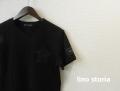 lino storia (リノ ストーリア) ネイビーカラーカモフラスター カットオフデザインクルーネック半袖Tシャツ (ブラック)  M/L 『限定品』