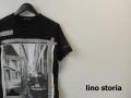 ino storia(リノストーリア) ビートルフォトデザインカットオフクルーネック半袖Tシャツ(ブラック) M/L 『限定品』