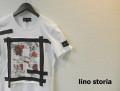 lino storia(リノストーリア) フラワーデザインカットオフクルーネック半袖Tシャツ (ホワイト) M/L 『限定品』