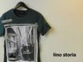 lino storia(リノストーリア) ビートルフォトデザインカットオフクルーネック半袖Tシャツ(グリーン) M/L 『限定品』