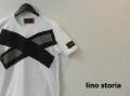 『ラストクリアランス!大処分価格!』 lino storia(リノストーリア) Xデザインカットオフ半袖BIGTシャツ(ホワイト) フリーサイズ 『限定品』