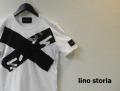 『特別価格』 lino storia(リノストーリア) Xデザインカットオフ半袖Tシャツ(ホワイト) M/L
