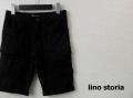 lino storia(リノストーリア) スリムカットカーゴショーツ/ショートパンツ (ブラック) S/M/L/XL
