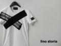 『ラストクリアランス!大処分価格!』 lino storia(リノストーリア) サイドXデザインカットオフ半袖Tシャツ(ホワイト) M/L 『限定品』