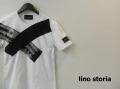 lino storia(リノストーリア) サイドXデザインカットオフ半袖Tシャツ(ホワイト) M/L 『限定品』