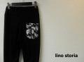 『ラストクリアランス!大処分価格!』 lino storia(リノ ストーリア) カモフラ片ポケット クロップドカットパンツ(ブラック) フリーサイズ 限定モデル