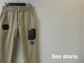 lino storia(リノ ストーリア) スリムフィットジャージーリペアデザインパンツ (ベージュ) M/L 限定品